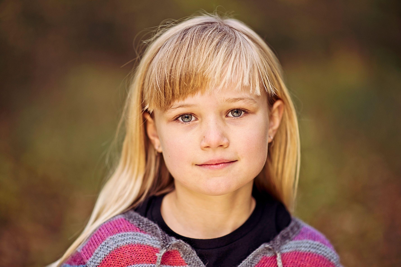 Portrætfoto af pige
