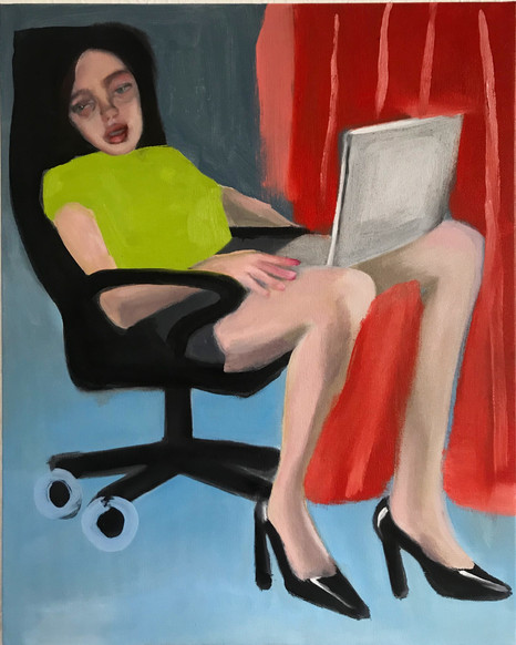 COMFORTABLE CHAIR, 2019, oil on canvas, 20 x 16 inches