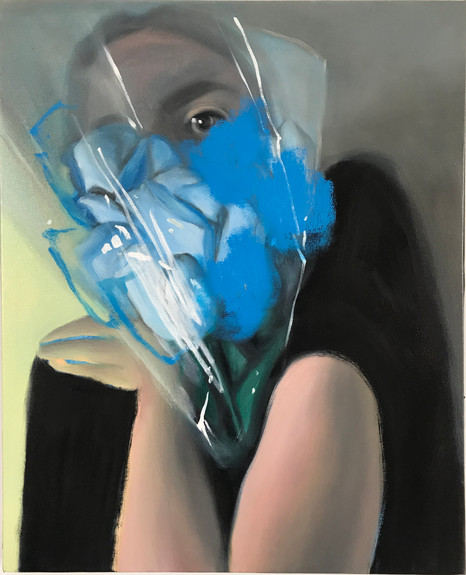 BLUE BOUQUET, 2020, oil on canvas, 30 x 24 inches