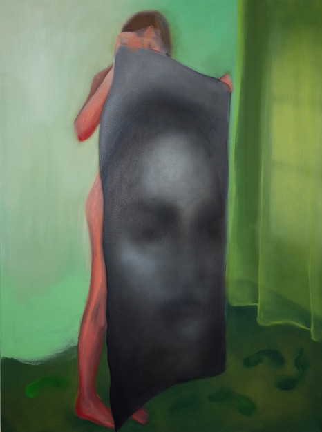 FUZZY FACE, 2020, oil on canvas, 40 x 30 inches