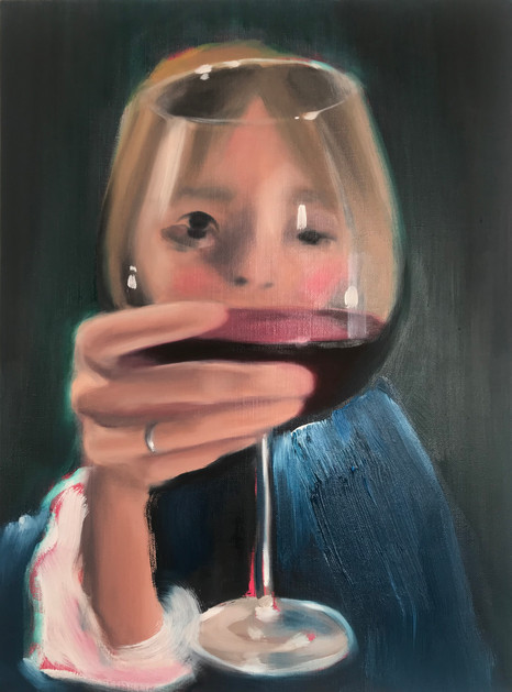 EMPTY, 2020, oil on linen, 24 x 18 inches