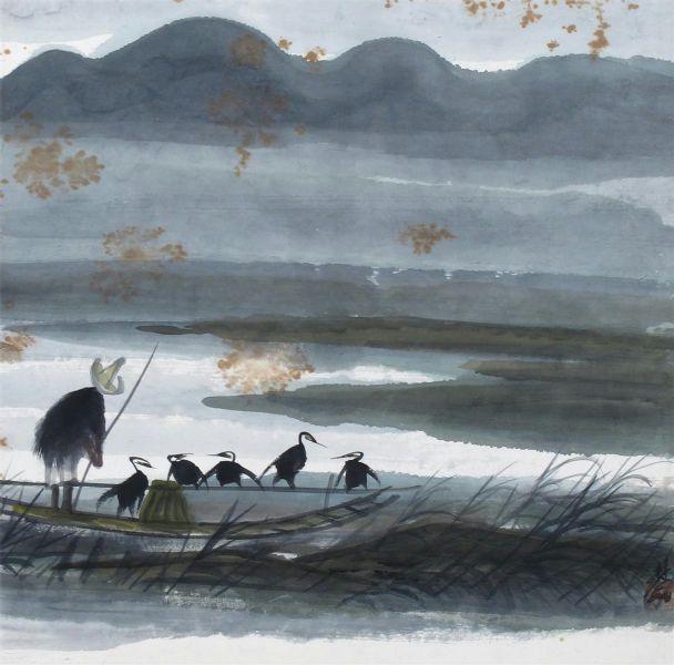 lin-fengmian-feng-mian-pecheur-riviere-e
