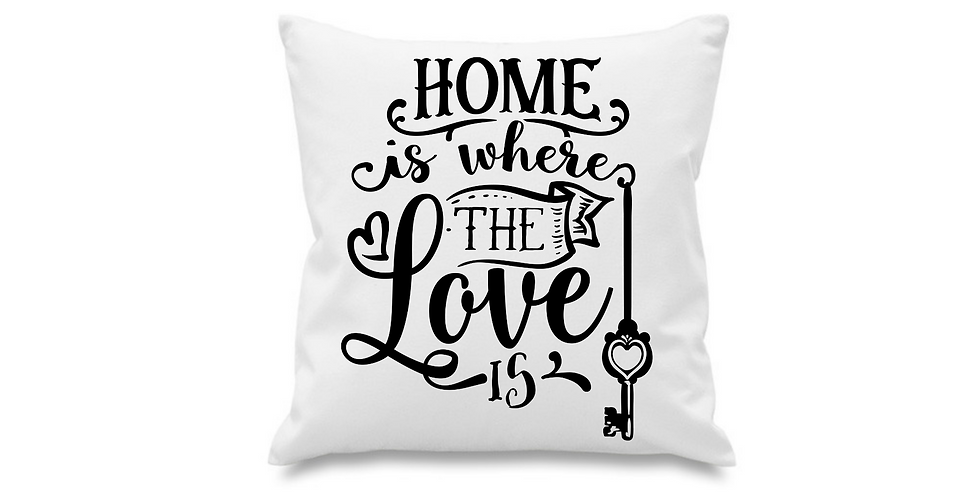 Wedding Cushion Cover Home Is Where The Love Is