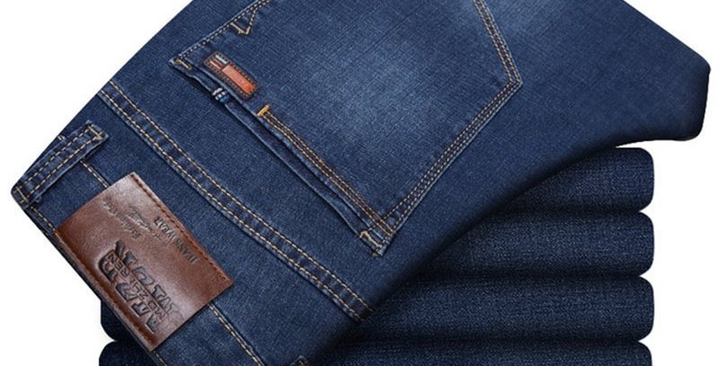 Plus Size Mens Jeans Classic Straight Baggy Male Jeans