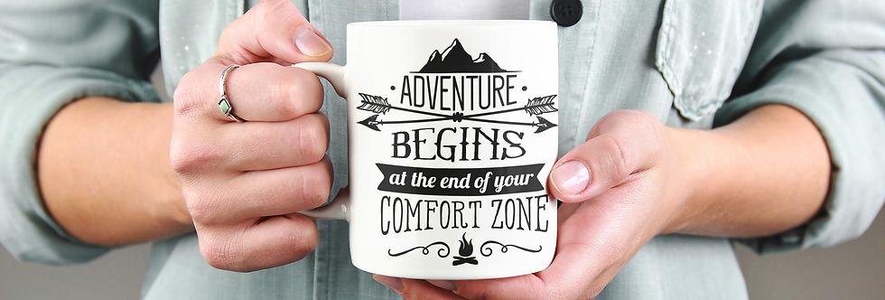 Adventure Begins At 11oz Mug