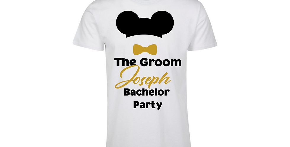 Personalised The Groom Bachelor Party T-Shirt