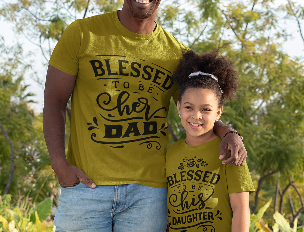 Blessed To Be Her DAD Blessed To Be His Daughter T-Shirt