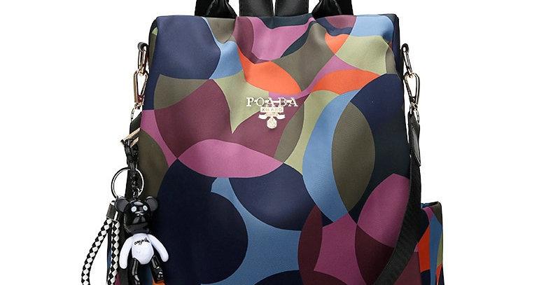 Fashion Backpack Durable Fabric Oxford School Bag