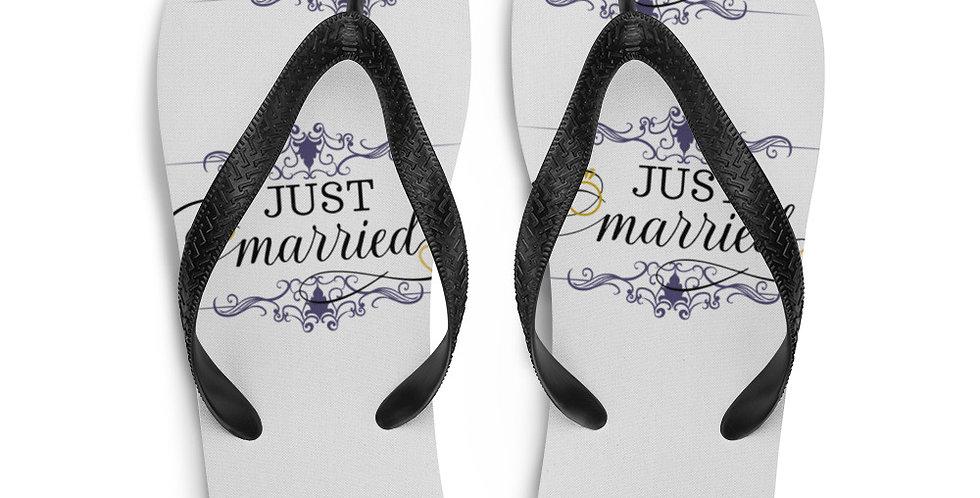 Wedding Flip-Flops Just Married