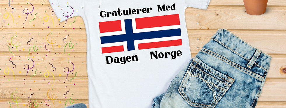 Gratulerer Med Dagen T-Shirt
