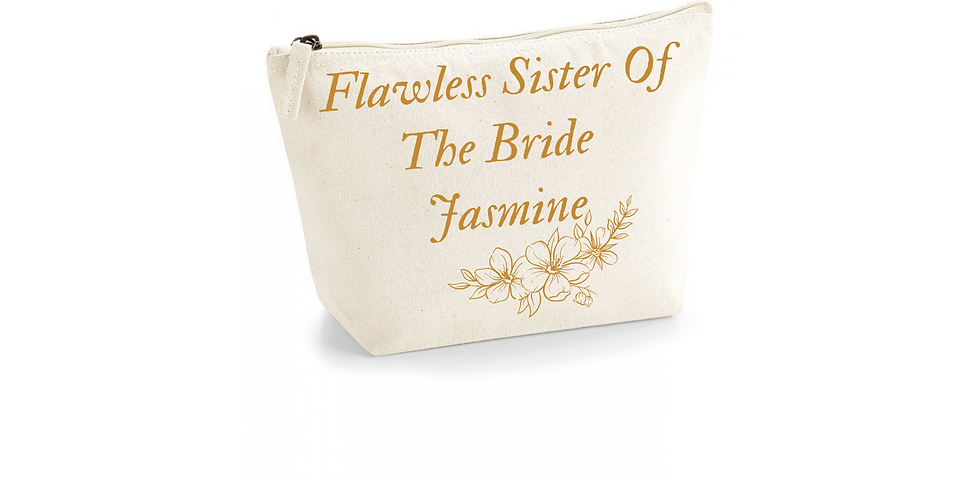 Wedding Personalised Flawless Sister Of The Bride Accessory Bag