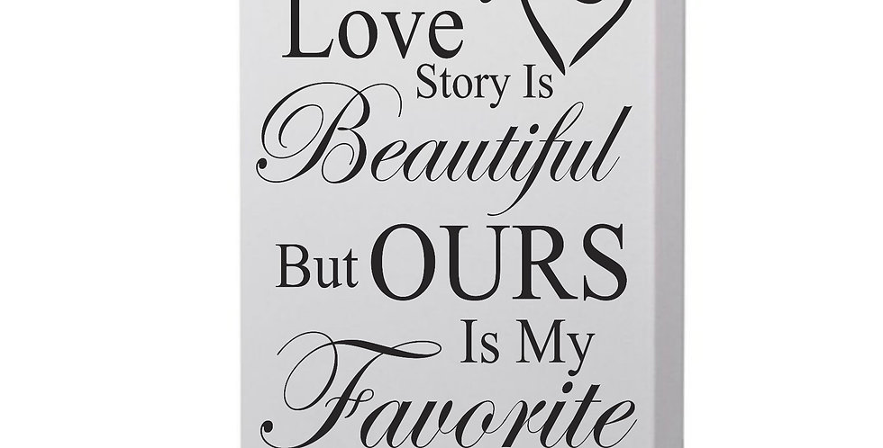 Every Love Story Is Beautiful Photo Canvas