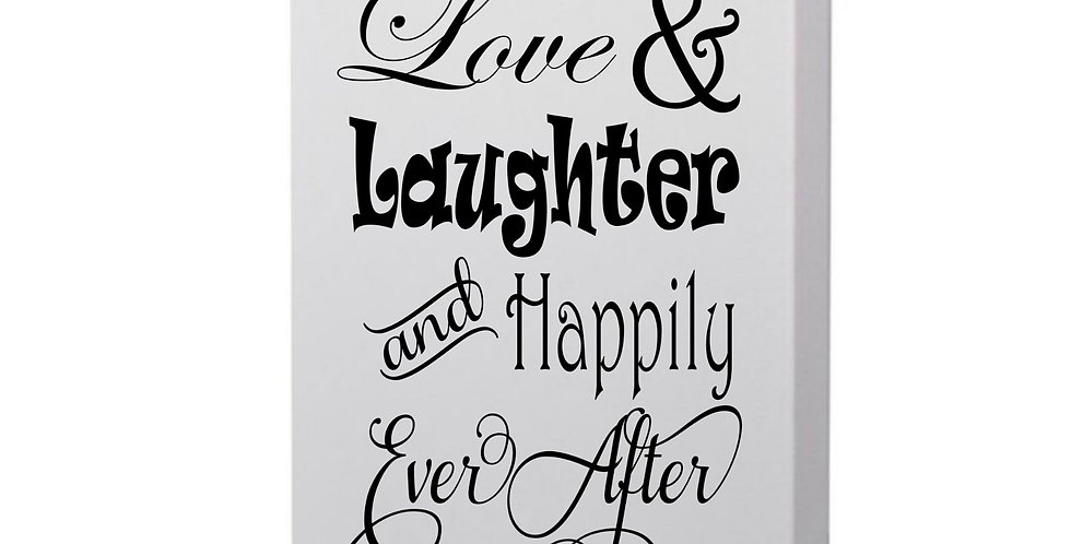 Here's To Love & Laughter Photo Canvas
