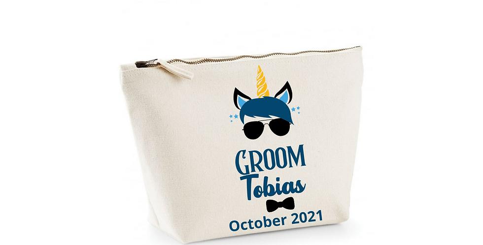 Wedding Personalised Groom Accessory Bag