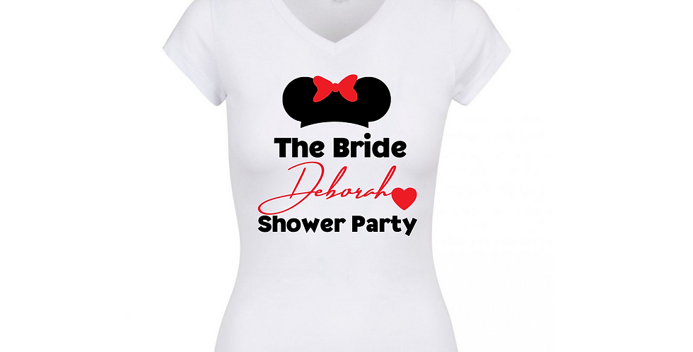 Personalised Shower Party T-Shirt