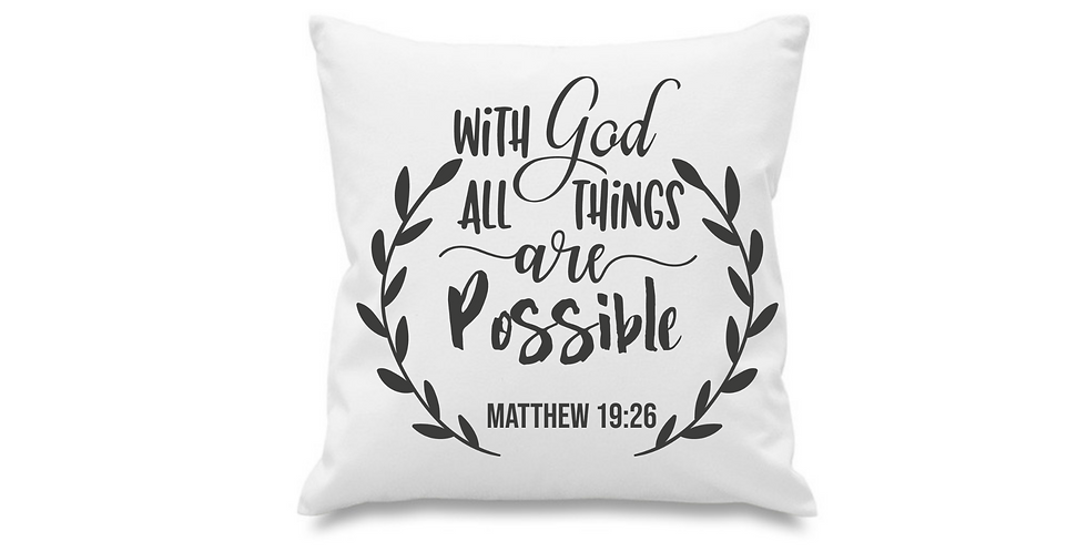 Wedding Cushion Cover With God All Things Are Possible