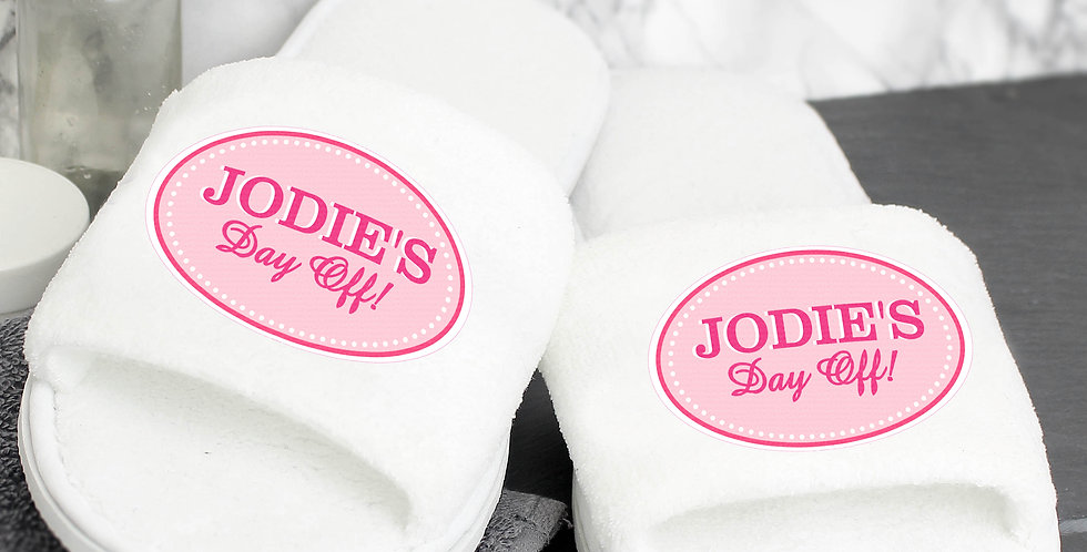 Slippers Personalised Pink Oval Velour