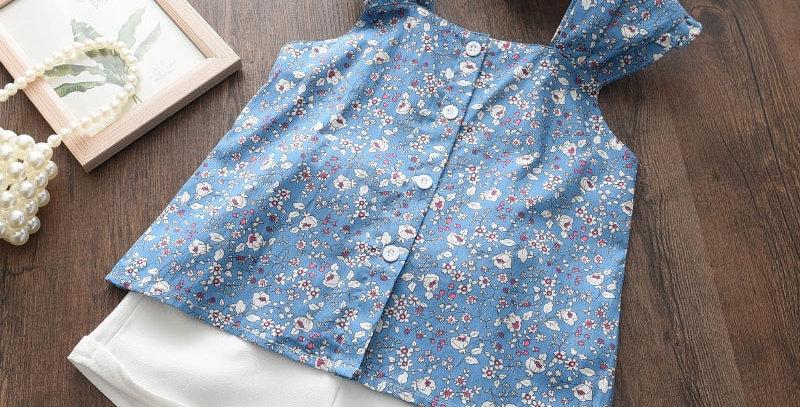Girls Sets Print T-Shirt Short 2Pcs
