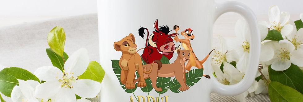 Personalised Lion King Mug