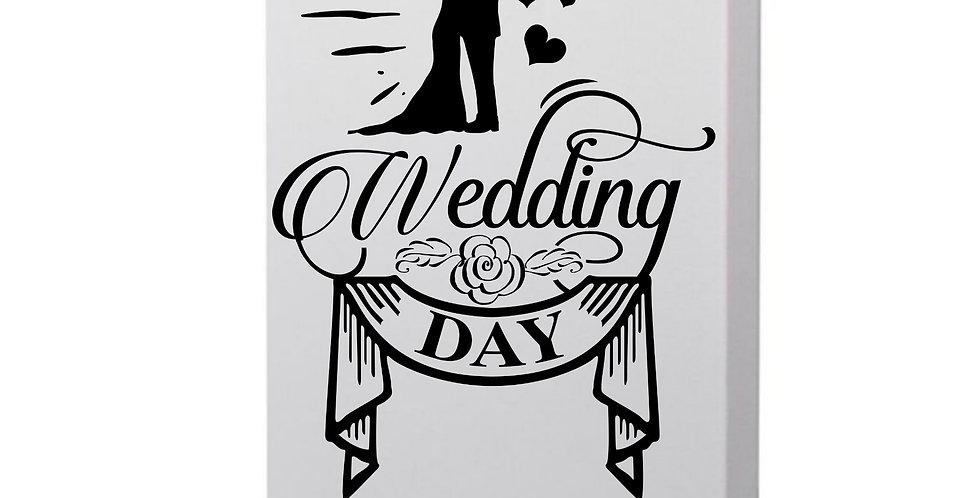 Wedding Day Photo Canvas