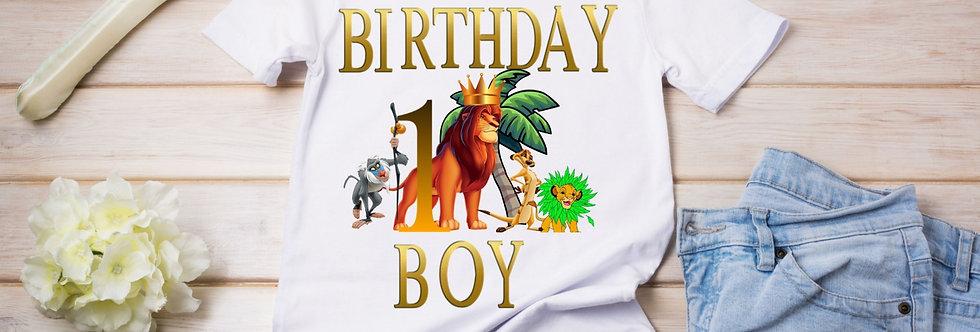 Personalised Lion King  Birthday T-Shirt