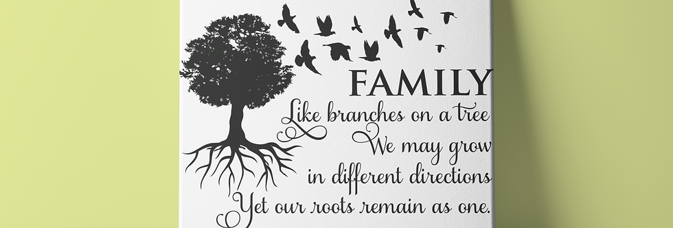 "Family Like Branches 8x8"" Canvas-Home Decore"