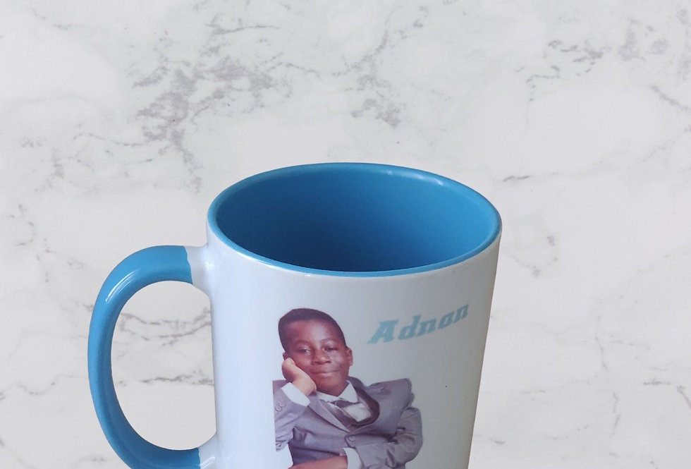 Personalised 11oz Coloured Interior And Handle