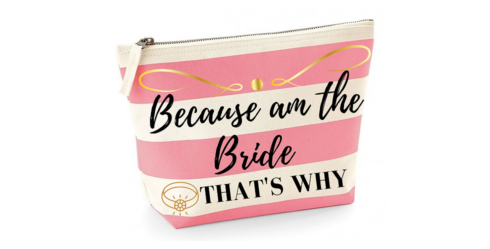 Wedding Accessory Bag Because Am The Bride That's Why