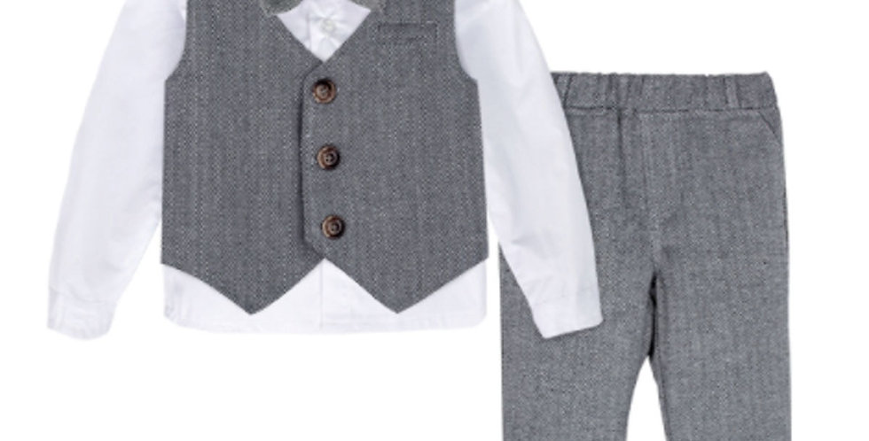 Baby Formal Suit Infant Blazer Toddler Gentleman Tuxedo Outfit