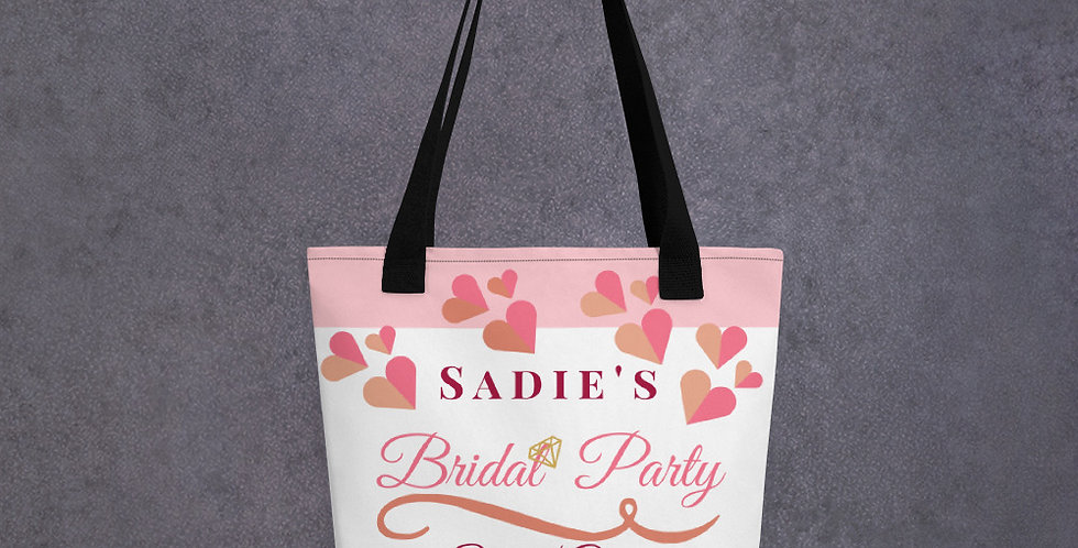 Personalised  Wedding Tote bag Sadie's Bridal Party She Is Getting Married