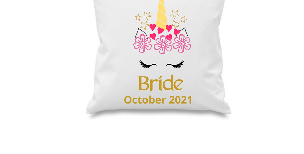 Wedding Personalised Cushion Cover Bride