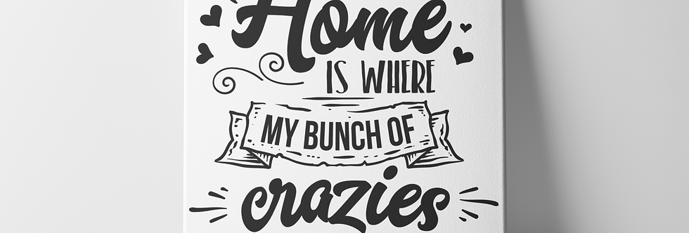 "Home Is Where My 8x8"" Canvas-Home Decor"