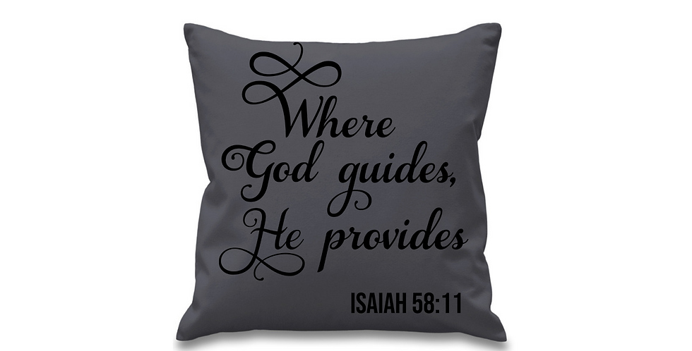 Wedding Cushion Cover Where God guides He provides
