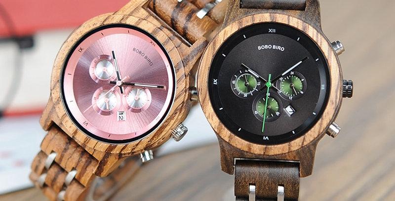 Ladies Wooden Timepieces