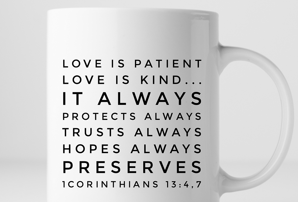 Love Is Patient, Love Is Kind, It Always Protects Mug