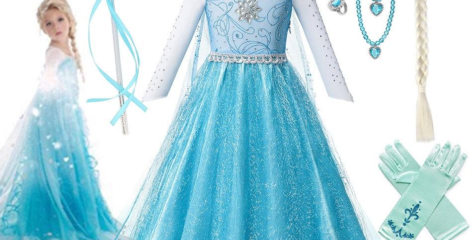 Disney Dresses Frozen 2 Dress Girls Fancy Queen Elsa Costume Princess Elsa