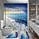 Thumbnail: Coastal Beach Scenery Printed Pattern Shower Curtain Pedestal Rug Lid