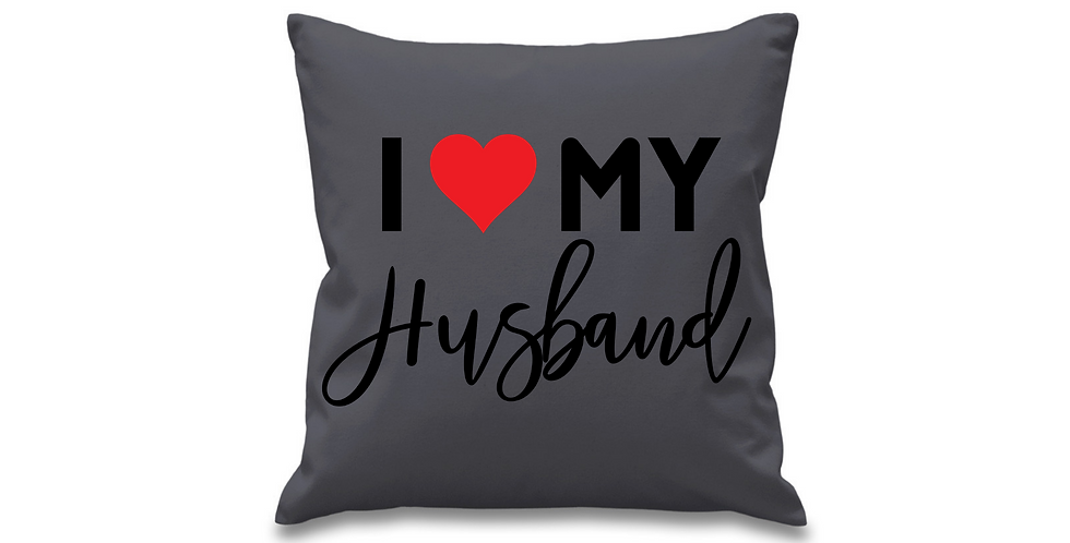 Wedding Cushion Cover I Love My Husband