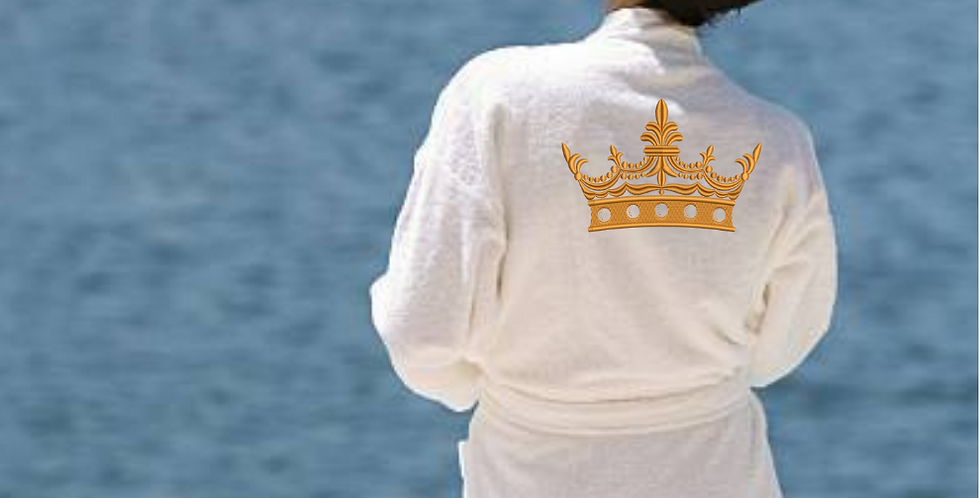 "Personalised Custom  Bathrobe ""Crown Design Embroidery"