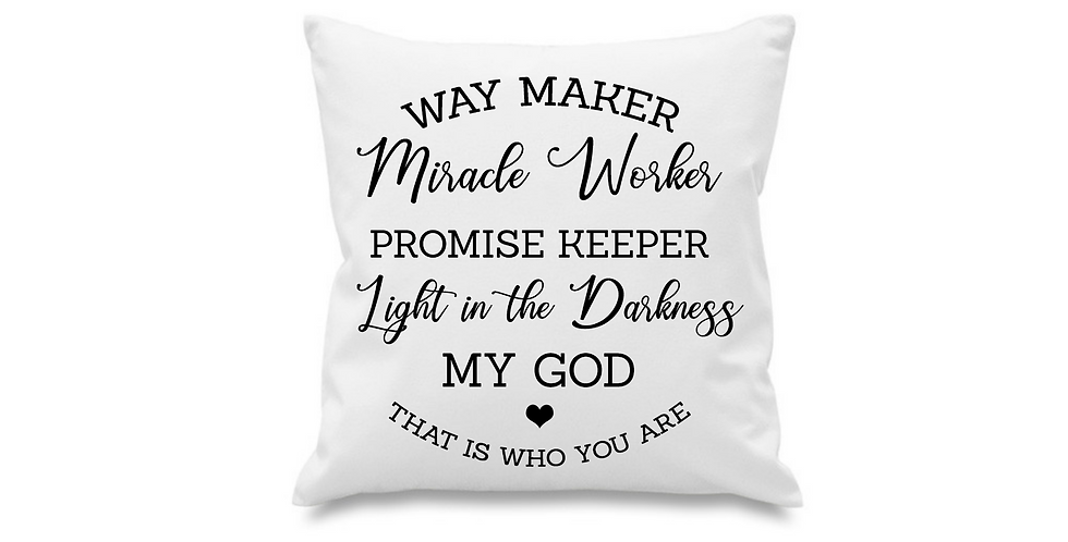 Wedding Cushion Cover Way Maker Miracle Worker Promise Keeper Light