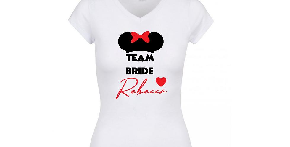 Personalised Team Bride T-Shirt