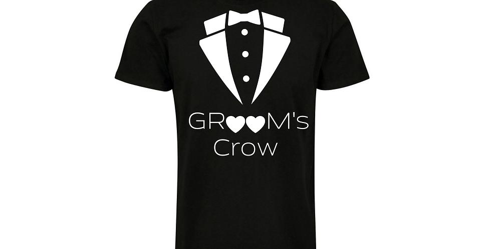 Groom Crow Wedding Party Shirt