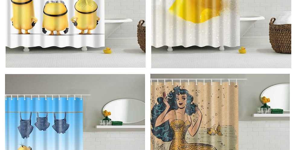 Cartoon Shower Curtains Waterproof