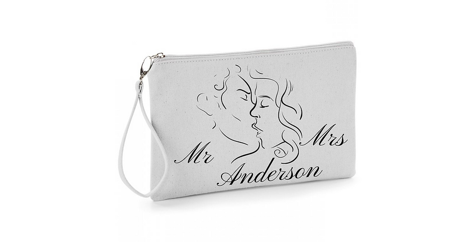 Wedding Personalised Bag Mr Mrs Accessory Bag