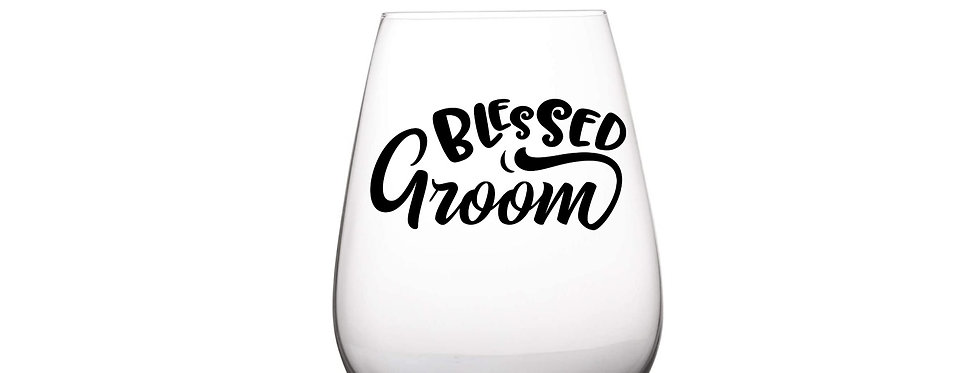 Blessed Groom Glass