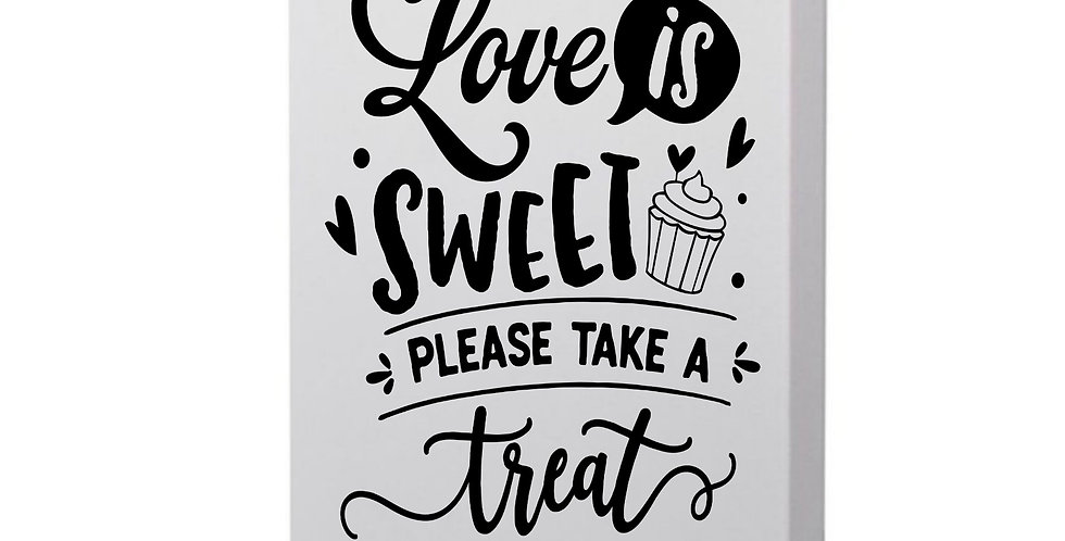 Love Is Sweet Please Take A Treat Photo Canvas