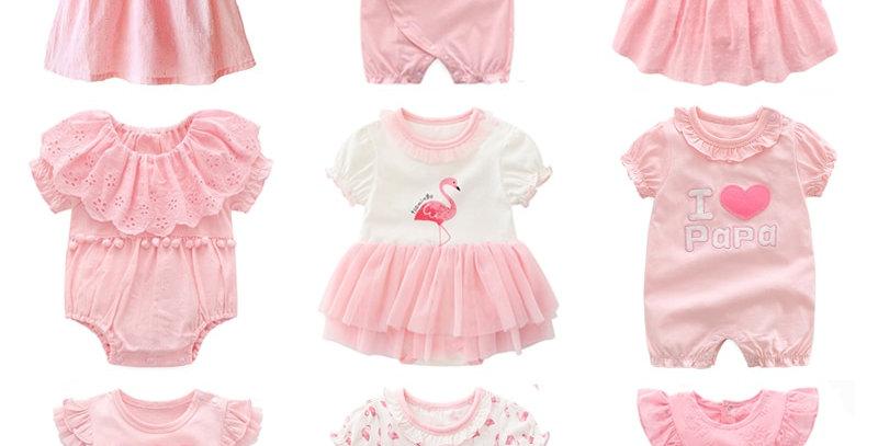 New Born Baby Girl dresses Pink Princess