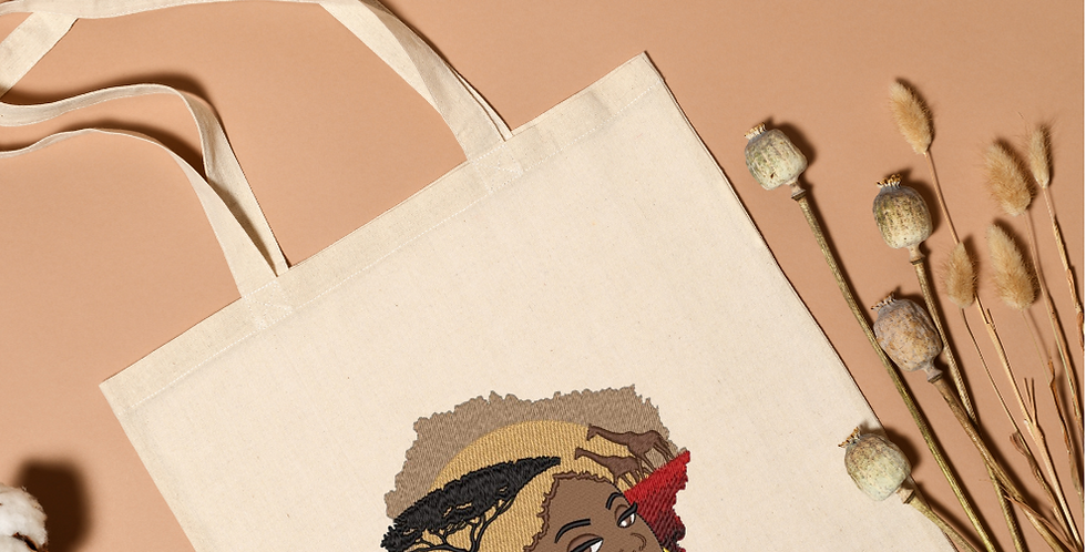 Personalised Embroidered Strong Canvas Bag