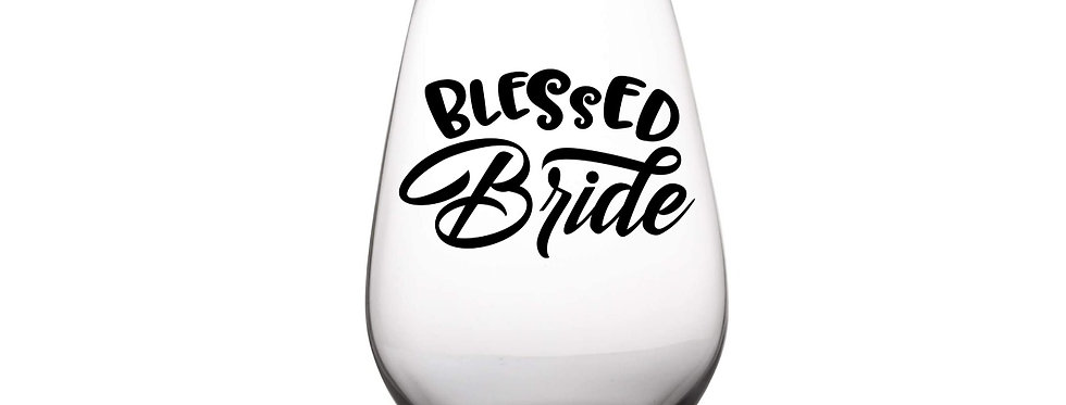 Blessed Bride Peronalized Glass