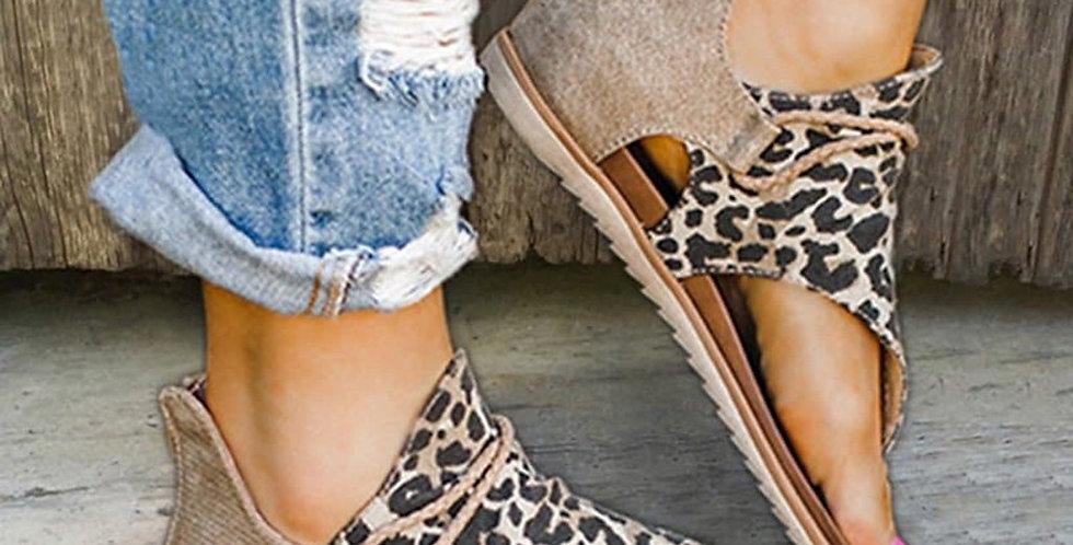 Women Sandals Leopard Print Summer Shoes